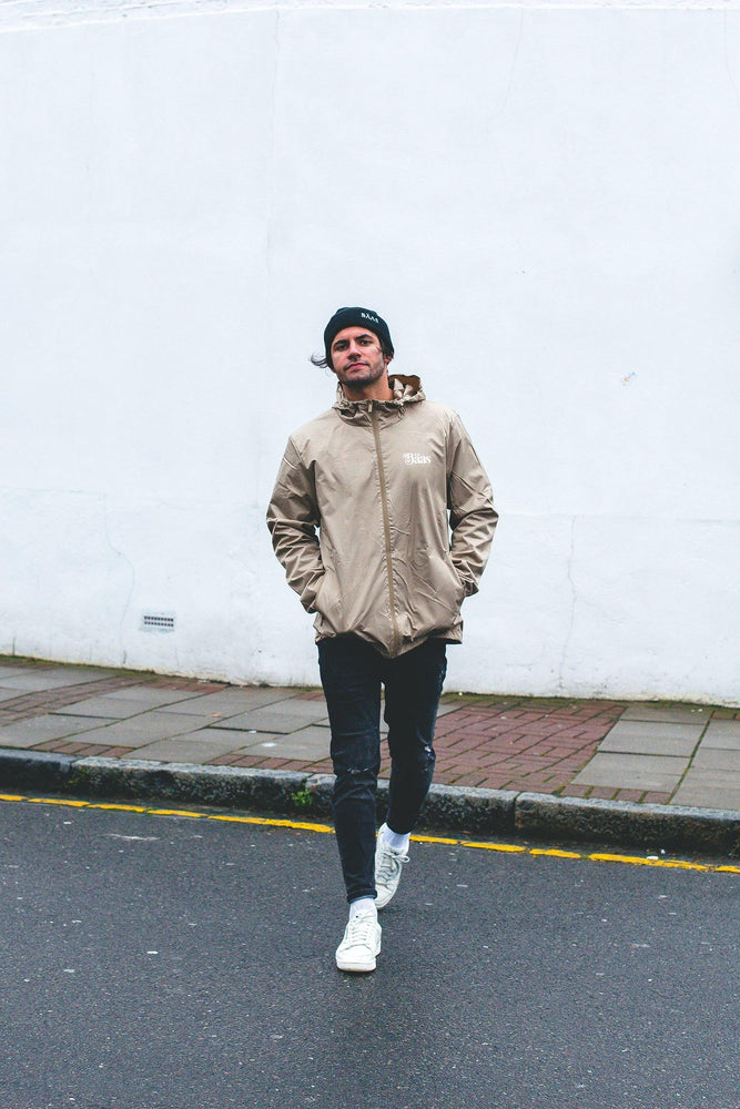 BÄAS x UN:IK 'Mayan' Waterproof Zip Jacket - Sand - UN:IK Clothing