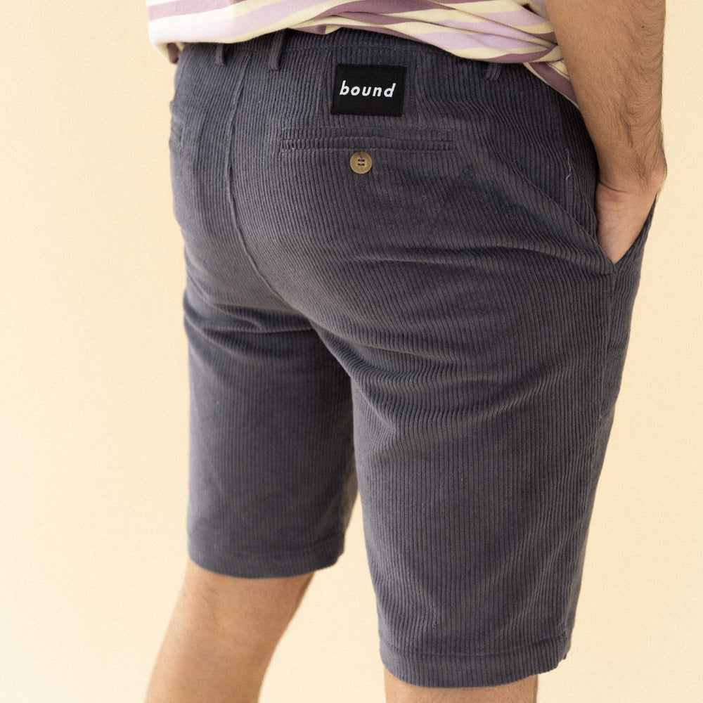bound 'Charcoal' Cord Shorts