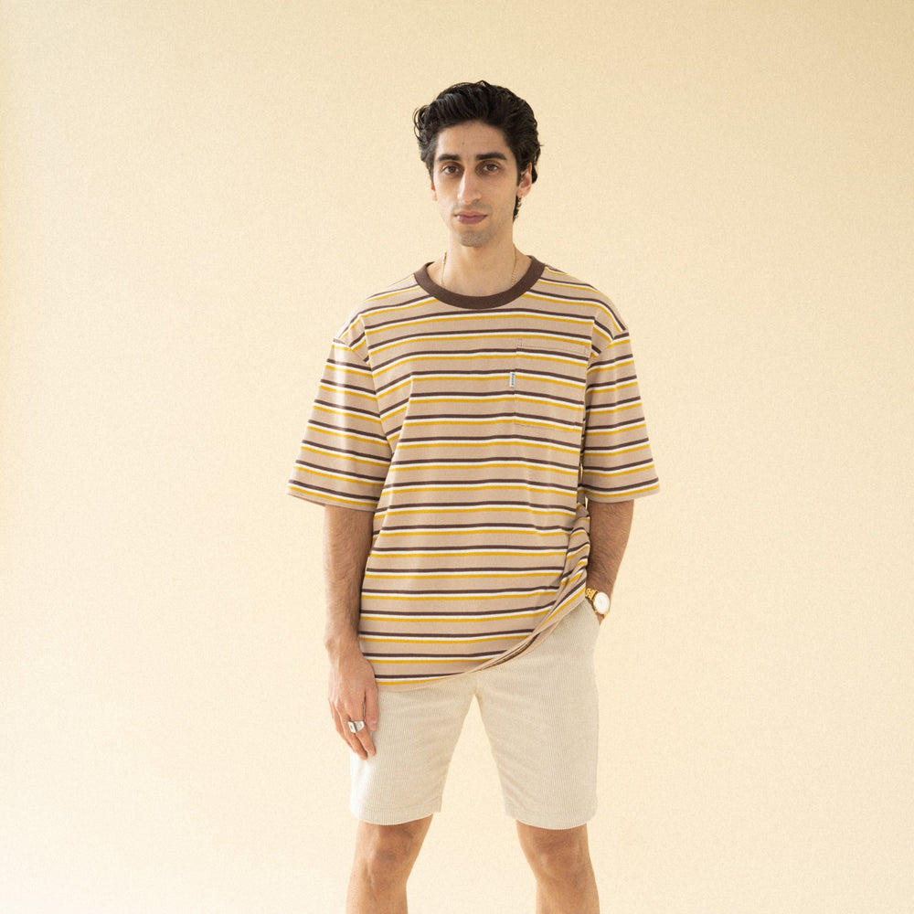 Load image into Gallery viewer, bound 'Sahara Stripe' Pocket Tee