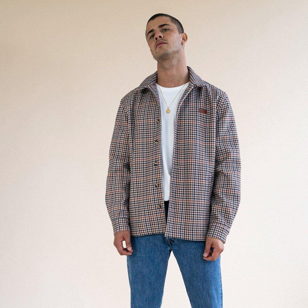 bound 'DOGTOOTH' HEAVY COACH JACKET - UN:IK Clothing