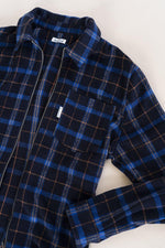 bound 'FLEET' FLANNEL ZIP OVERSHIRT - UN:IK Clothing