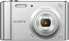 Load image into Gallery viewer, Sony DSC-W800 Cyber-shot 20.1 Mega Pixel Digital Camera Silver