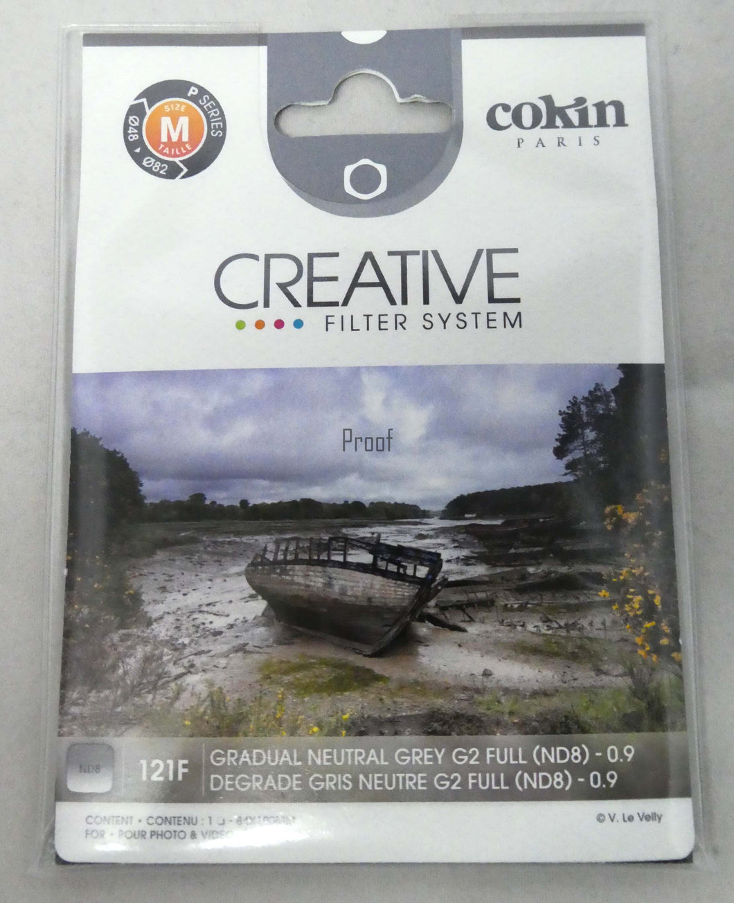 COKIN CREATIVE - Graduated ND Filter Full (ND8) (0.9) - Medium Size (P Series) P121F
