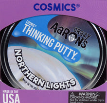 "Load image into Gallery viewer, Northern Lights Thinking Putty (4"" tin)"