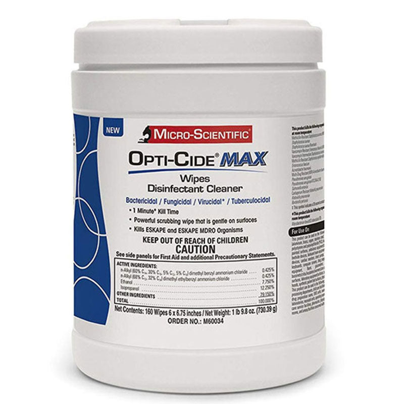 Opti-Cide Max Disinfectant Wipes - 160 Wipes