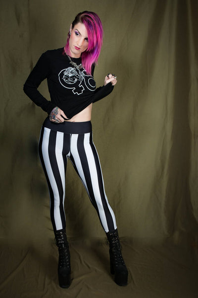 Circus Stripe Yoga Leggings
