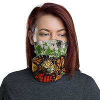 Monarch Butterfly Nature Print Neck Gaiter