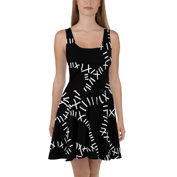 Catwoman Stitches Skater Dress