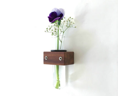 Small Wall Vase, Test Tube Flower Vase - pinacled