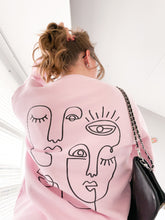 Afbeelding in Gallery-weergave laden, Artwork sweater pink