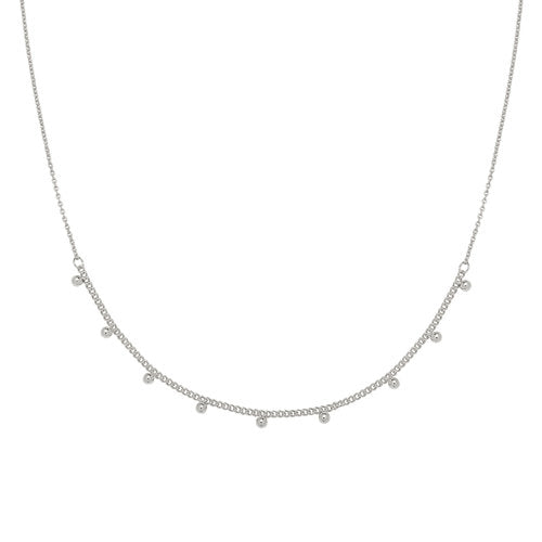 Tiny Love necklace silver