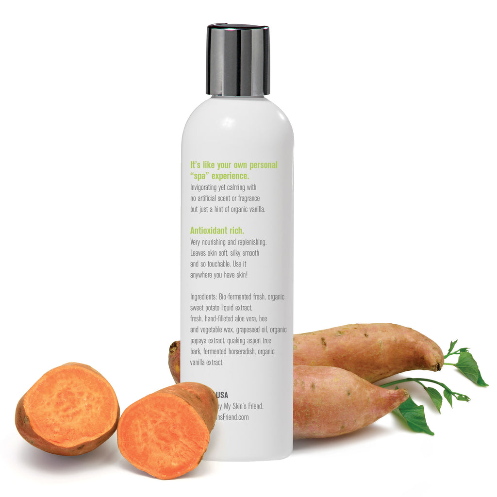 Organic Face & Body Sweet Potato Lotion - My Skin's Friend  - 3