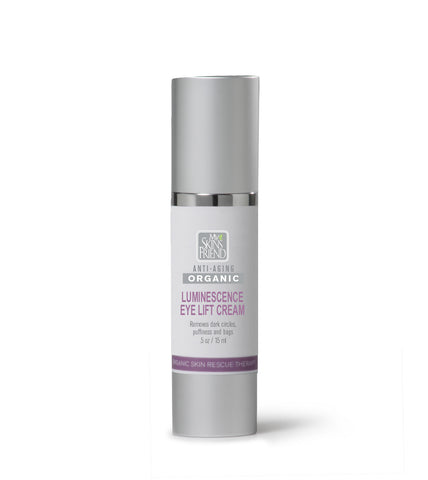 Image of Organic Eye Cream - Eliminates Puffiness, Fine Lines & Dark Circles - Luminescence - My Skin's Friend  - 1