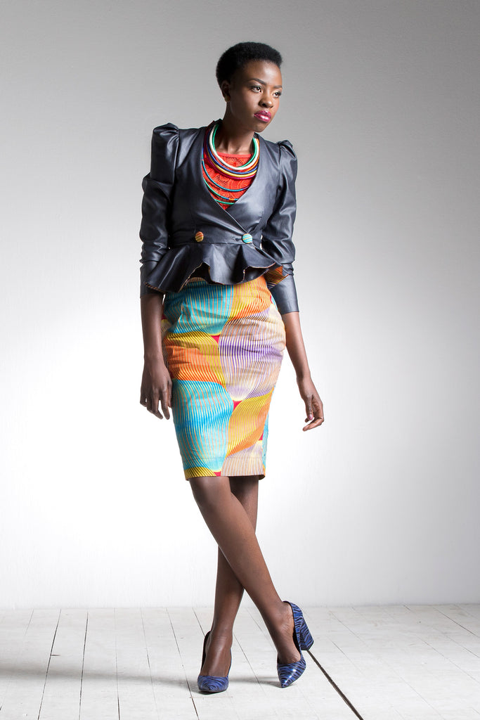 Leather African Print