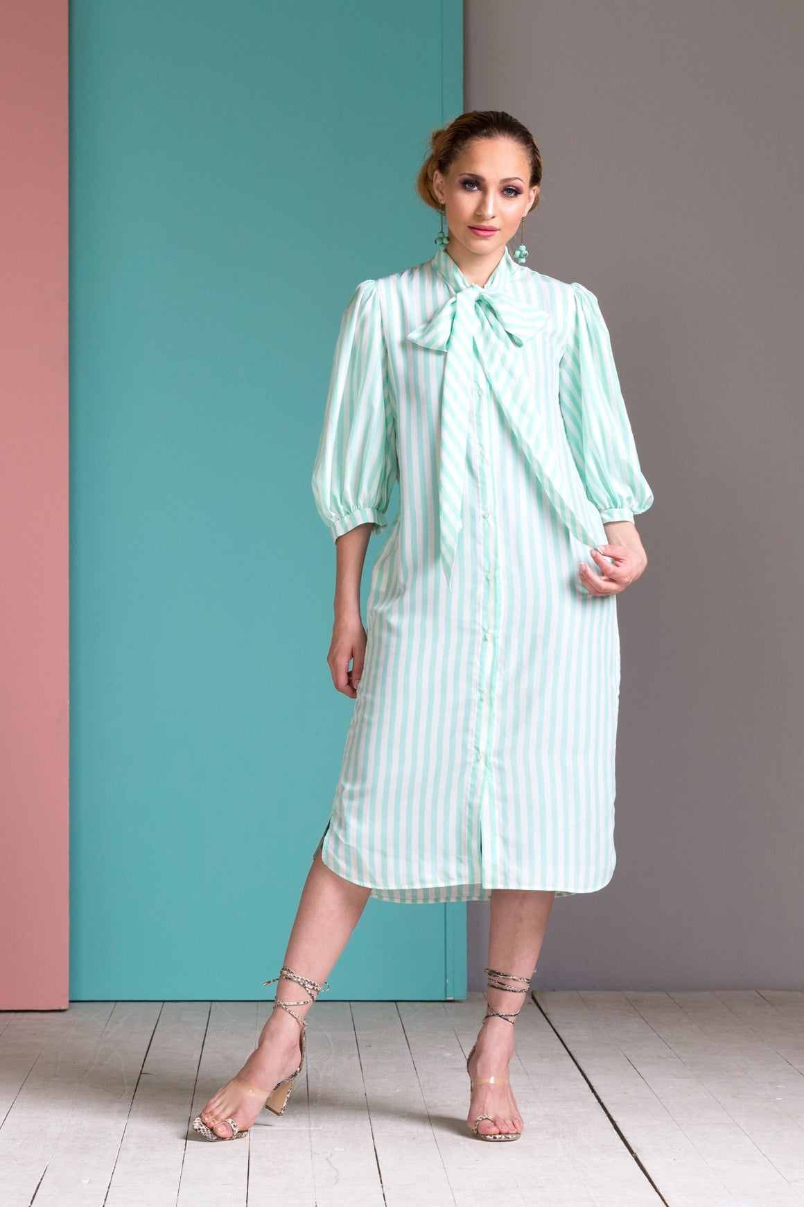 Mint Retro Shirt Dress