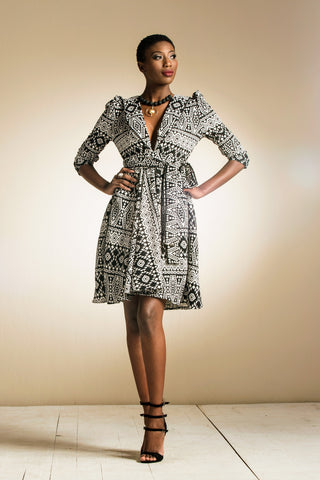 Temme Wrap Black & White Print
