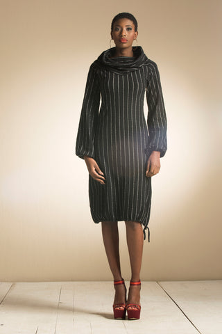 Big Cowl Stripe Dress