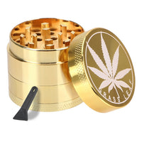 NICEYARD Beautiful Herb Herbal Spice Crusher Tobacco Grinder Smoking Pipe Accessories Metal Zinc Alloy 4 layer 40mm