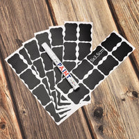 48Pcs/Set Waterproof Chalkboard Kitchen Spice Label Stickers Home Jars Bottles Tags Blackboard Labels Stickers With Marker Pen