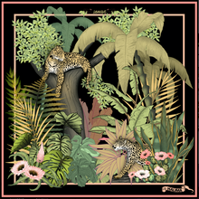"Load image into Gallery viewer, ""JUNGLE"" SILK SCARF"