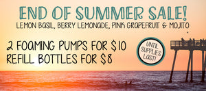 September Sale: 2 for $10 on all Summer Scents!
