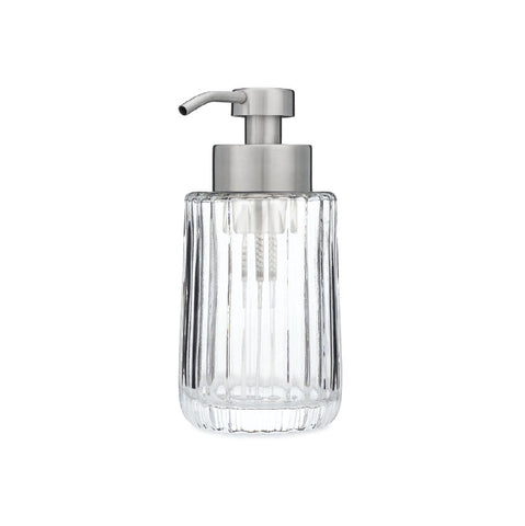 Fluted Glass Foaming Soap Dispenser