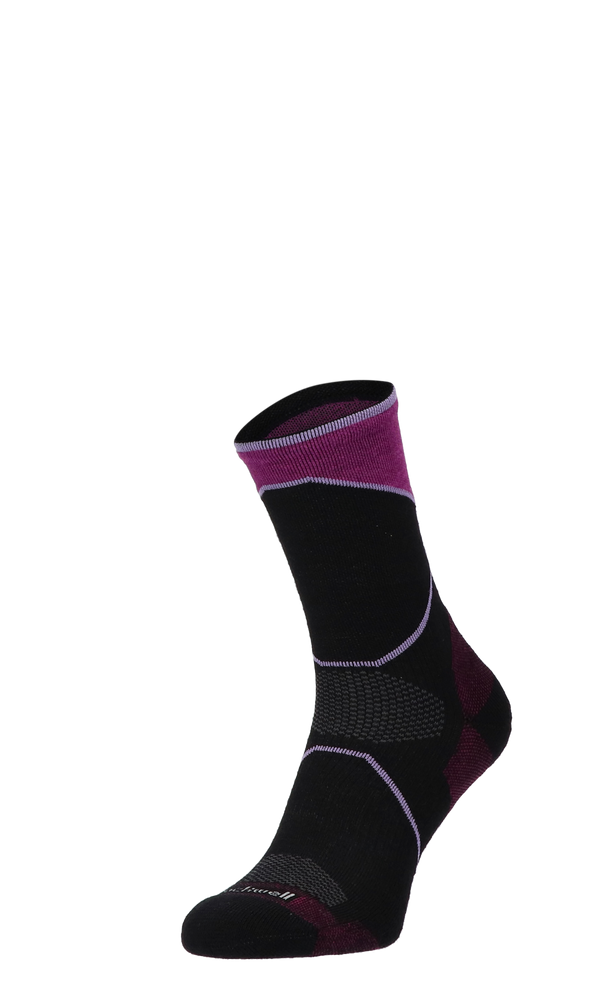Ascend Crew Damen Wandersocken Klasse 1 Black
