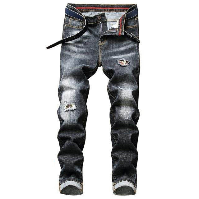Classic Street Runner Men's Distressed Jeans