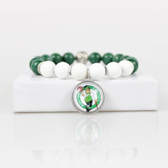 Boston Celtics Bead Bracelet