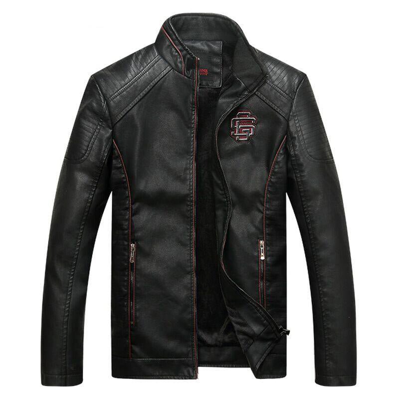 Stylish Ghostrider Motorcycle Jacket Faux Leather