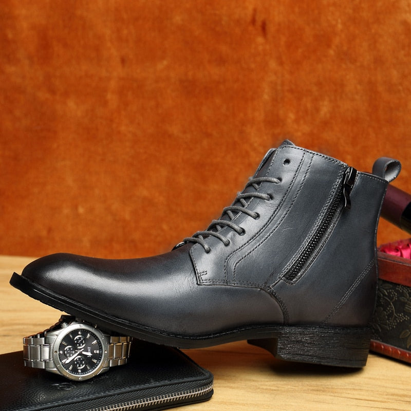 Professional Style Leather Business Boots