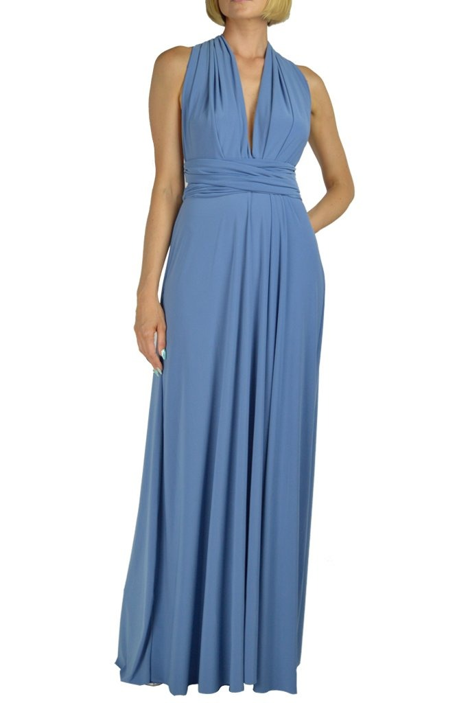 MAXI INFINITY DRESS DENIM BLUE