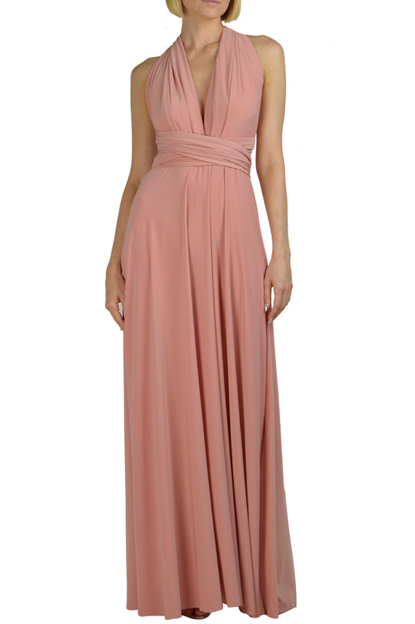 MAXI INFINITY DRESS TEA ROSE