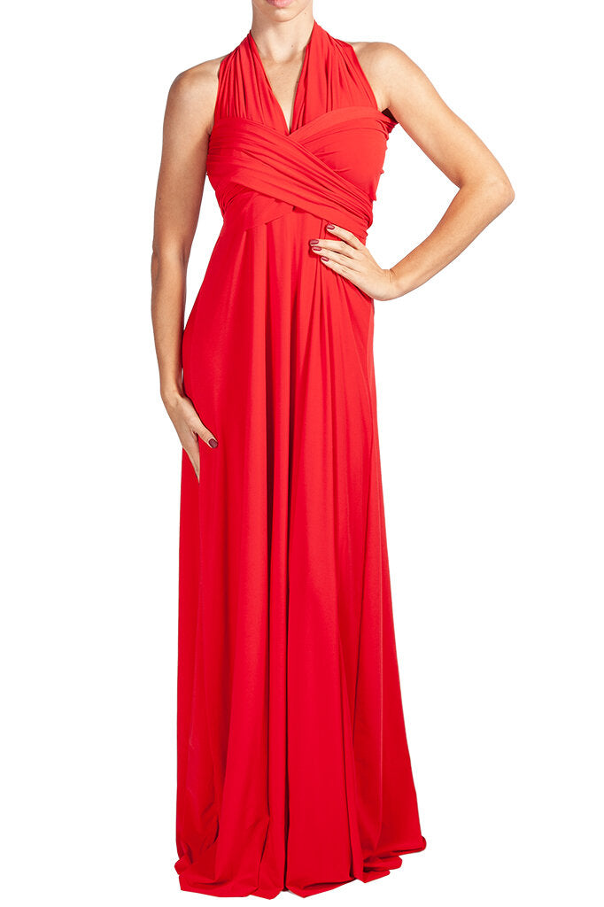MAXI INFINITY DRESS RED