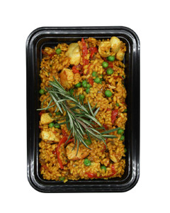 Piri-Piri Chicken Paella with Red Peppers & Peas