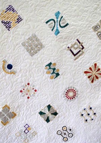 Modern Art Embroidered Quilt