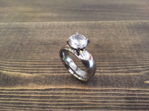 RING CAPRI SILVER WITH WHITE STONES S54
