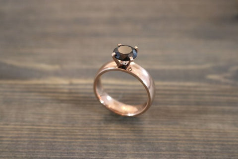 RING CAPRI RG WITH BLACK STONE S54