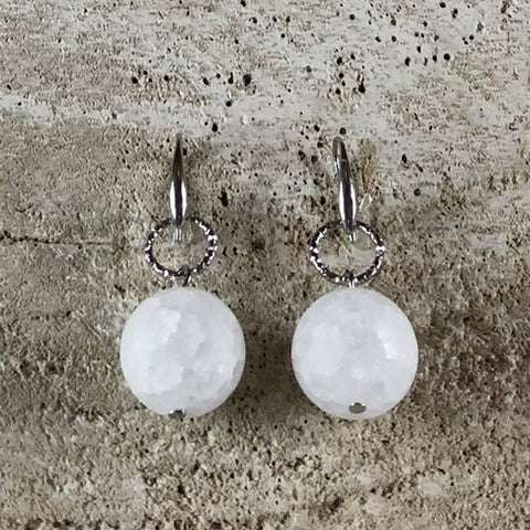 EARRING CHLOE WITH SMALL ROCK CRYSTAL STONE