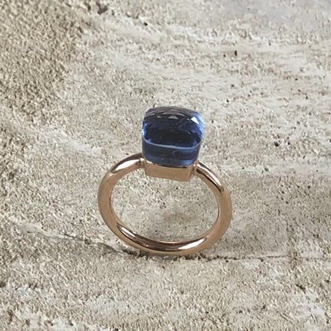RING FORLI RG LIGHT BLUE STONE S56