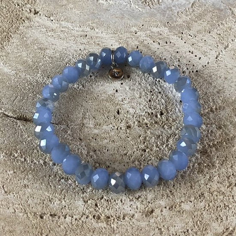 BRACELET RAINBOW BLUE OPAL STONES MEDIUM