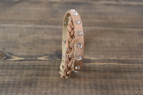 BRACELET TIFFANY ROSE GOLD WITH WHITE STONES