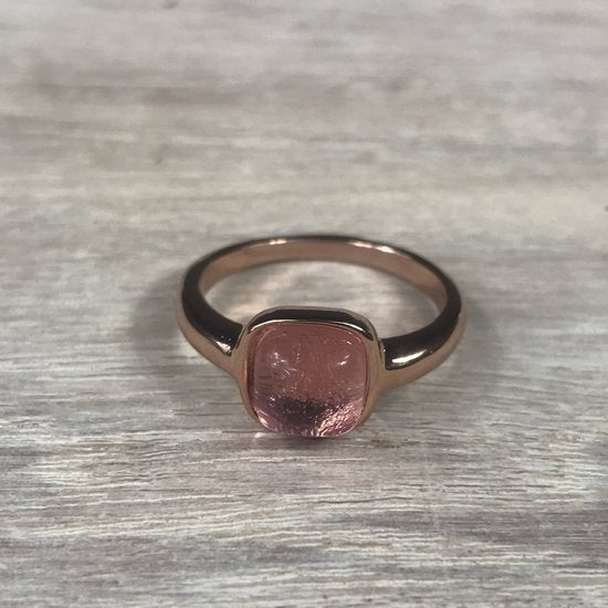RING FIRENZE RG LIGHT ROSE STONE S56