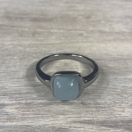 RING FIRENZE SILVER BLUE PURPLE OPAL STONE S54