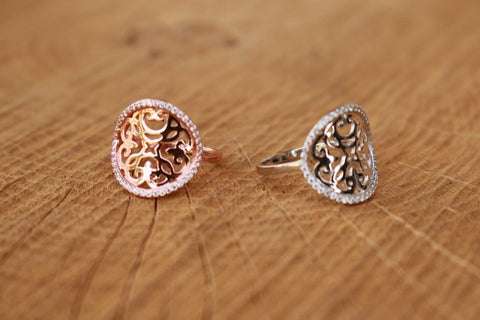 RING GLAMOUR ROSEGOLD S56