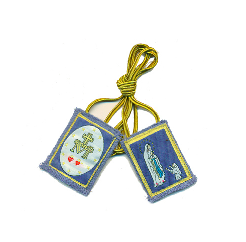 Blue Immaculate Conception Scapular - St. Benedict's Catholic Store