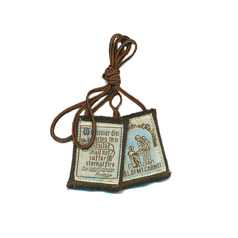 Best Brown Scapular with Brown Cord - St. Benedict's Catholic Store