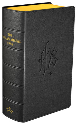 Daily Missal 1962 Flexible Black Leather - St. Benedict's Catholic Store