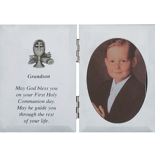 Silver Grandson Communion Frame - St. Benedict's Catholic Store