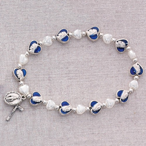 Heart Miraculous Stretch Bracelet - St. Benedict's Catholic Store